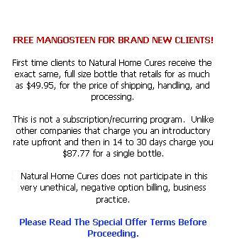 Free Mangosteen Online                         Special Offer Terms